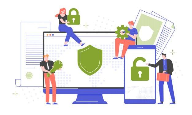 """ชื่อรูป: personal digital security 01 ประกอบเนื้อหา: ทำไมเราต้องปกป้อง """"ข้อมูลส่วนบุคคล"""" ของตัวเอง ?"""