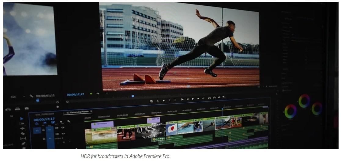 ชื่อรูป: HDR for broadcasters in Adobe Premiere Pro. ประกอบเนื้อหา: Adobe CC โชว์ของที่งาน IBC นำเสนออัปเดตฟีเจอร์ล่าสุดของ Adobe Premiere Pro